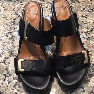 Sofft black Sandle Velcro buckle straps sz 8 1/2